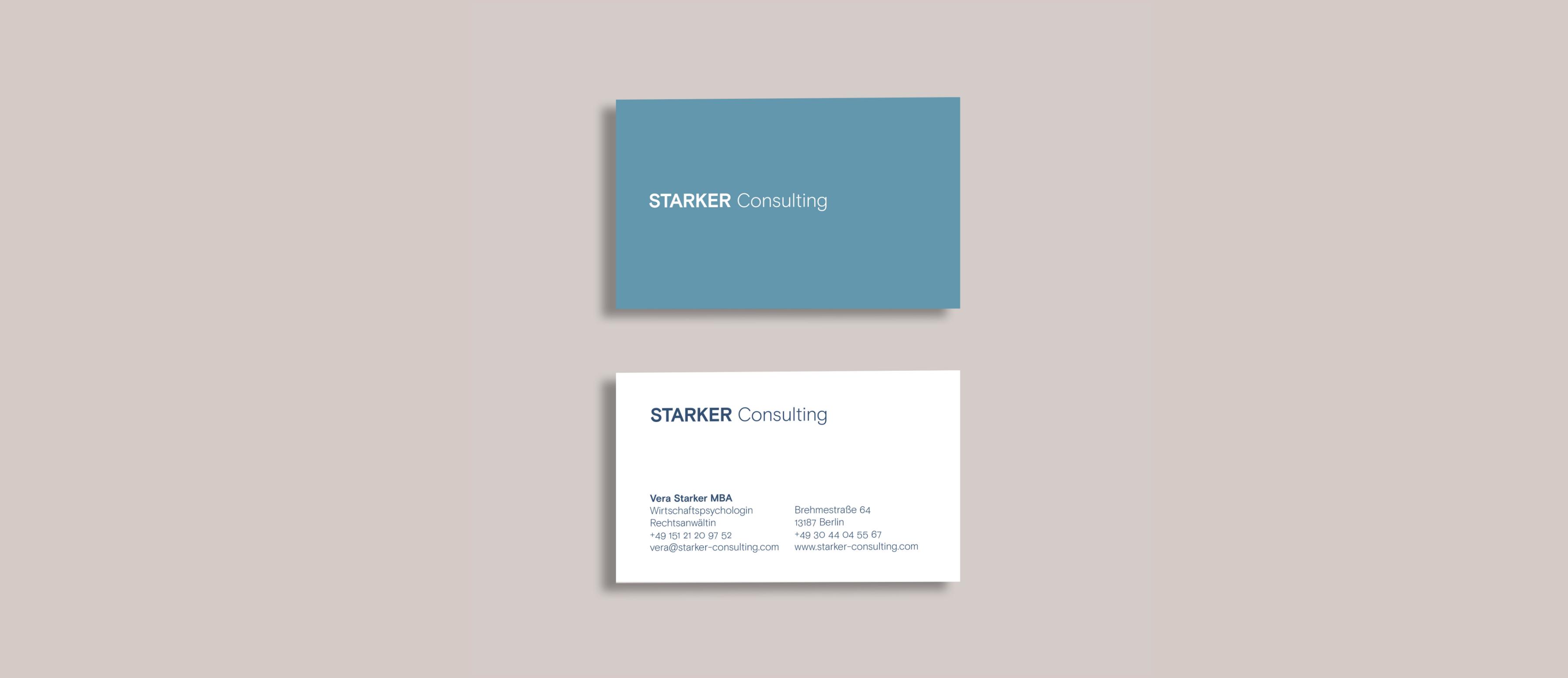 Visitenkarten STARKER Consulting Corporate Design