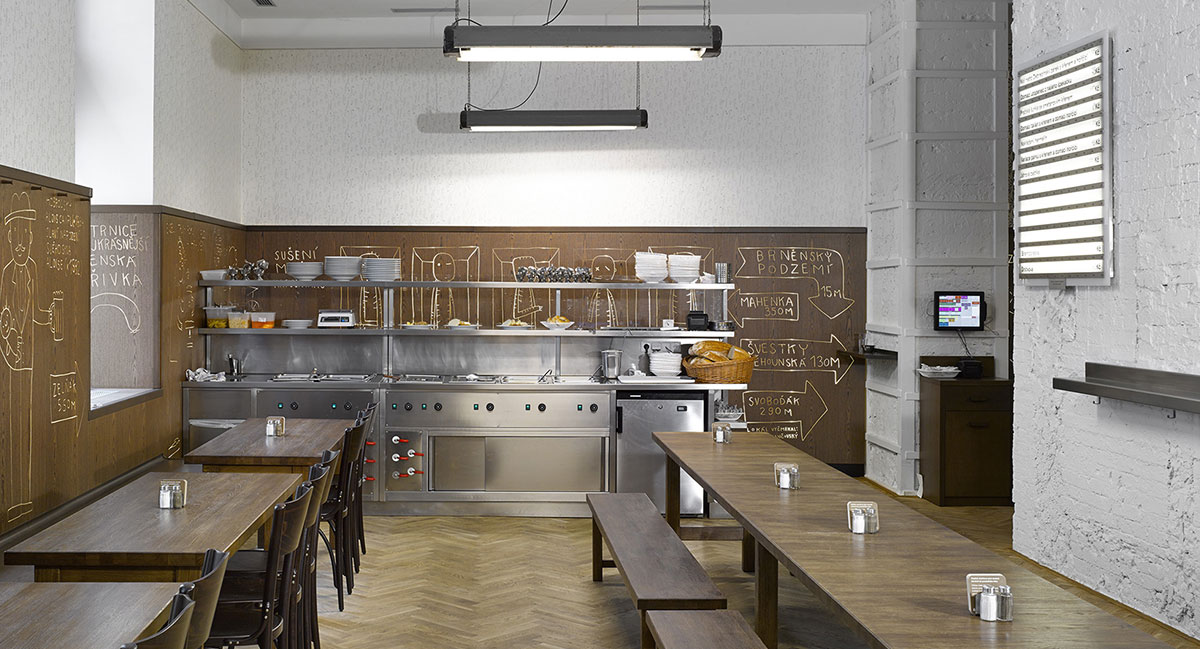 Graphic Design Bienial Brno Restaurant