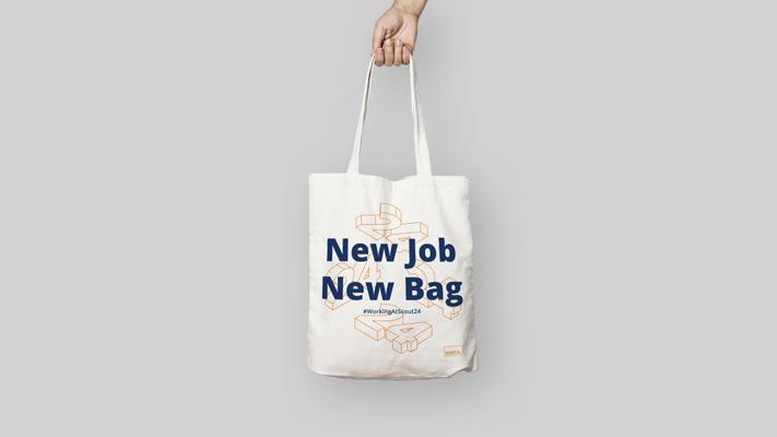 Geschäftsausstattung Judebeutel für Employer Branding von Scout24