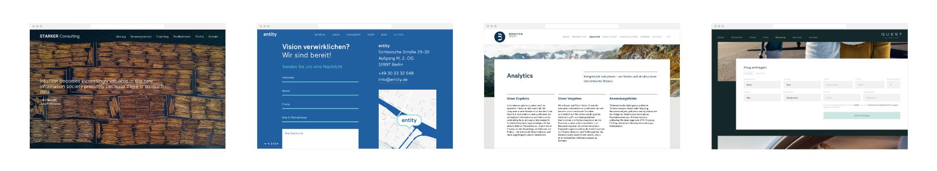 Markenprozess Websites von Helder gestaltet und Programmiert