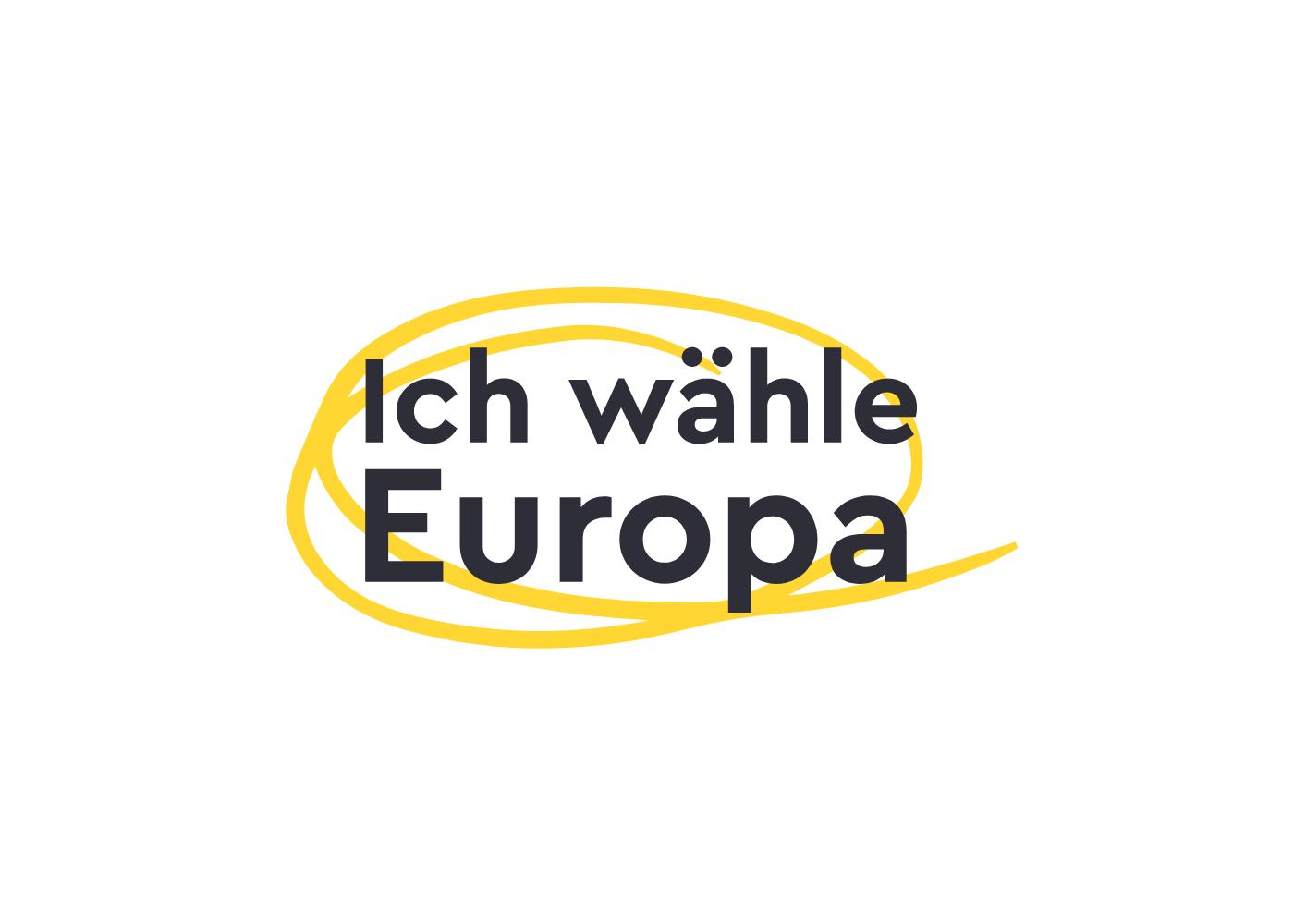 Ich wähle Europa Logodesign