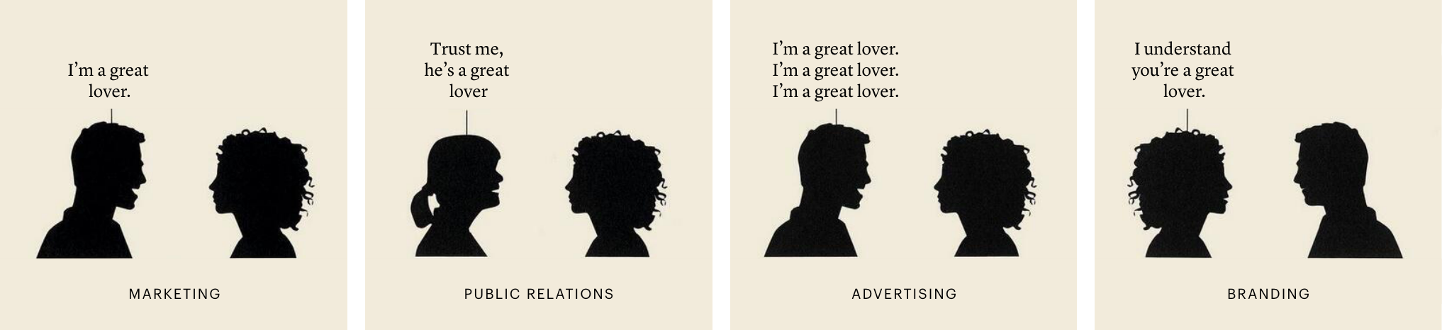 A great lover Branding Comic von Marty Neumeier