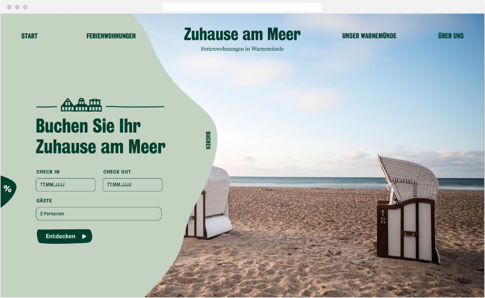 Zuhause am Meer Webdesign – Start