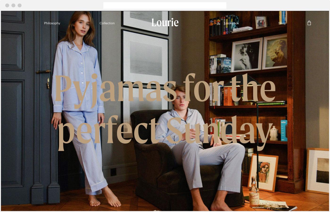 Lourie Webdesign Homepage