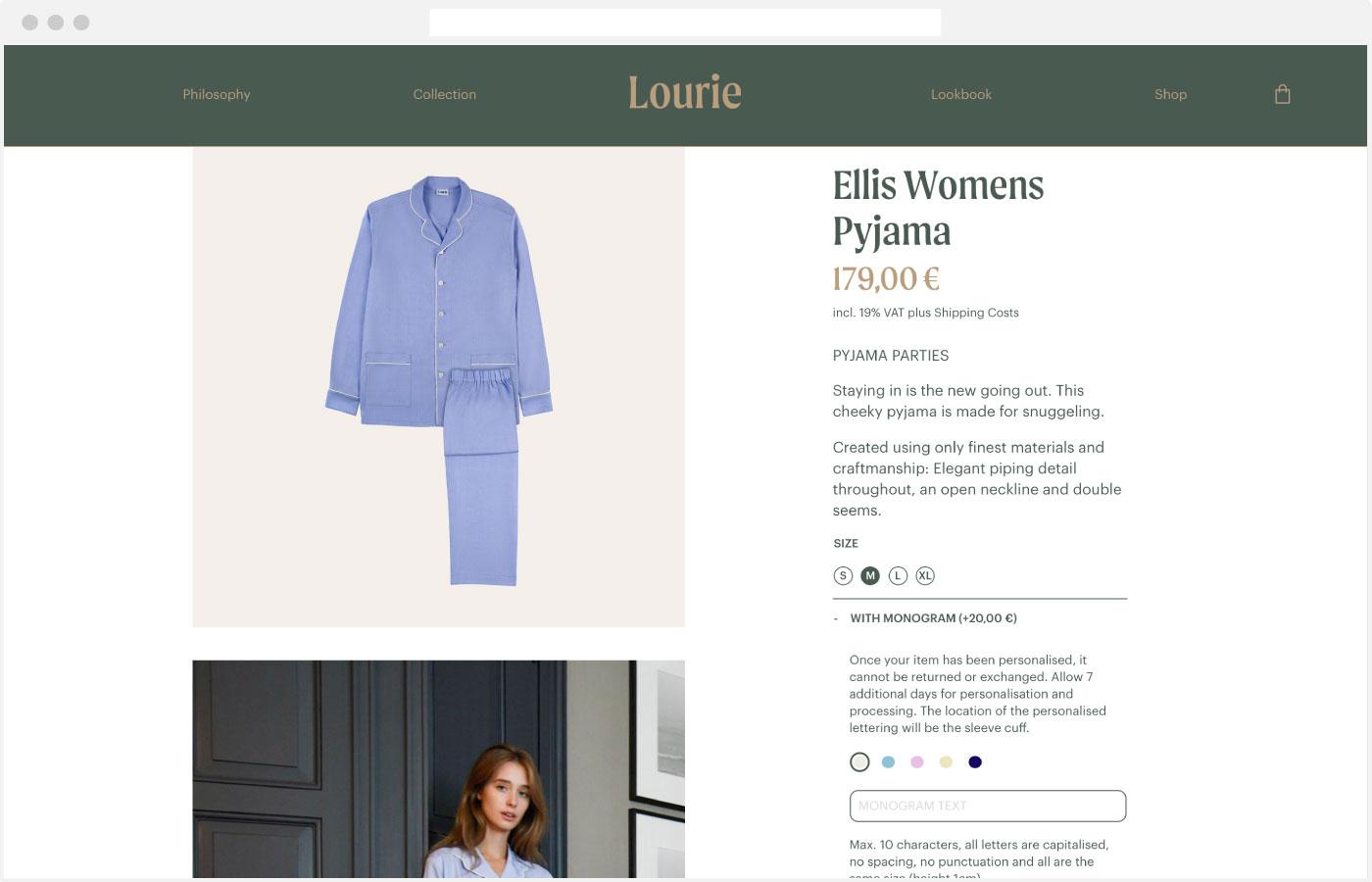 Lourie Webdesign Webshop Produkt Detail