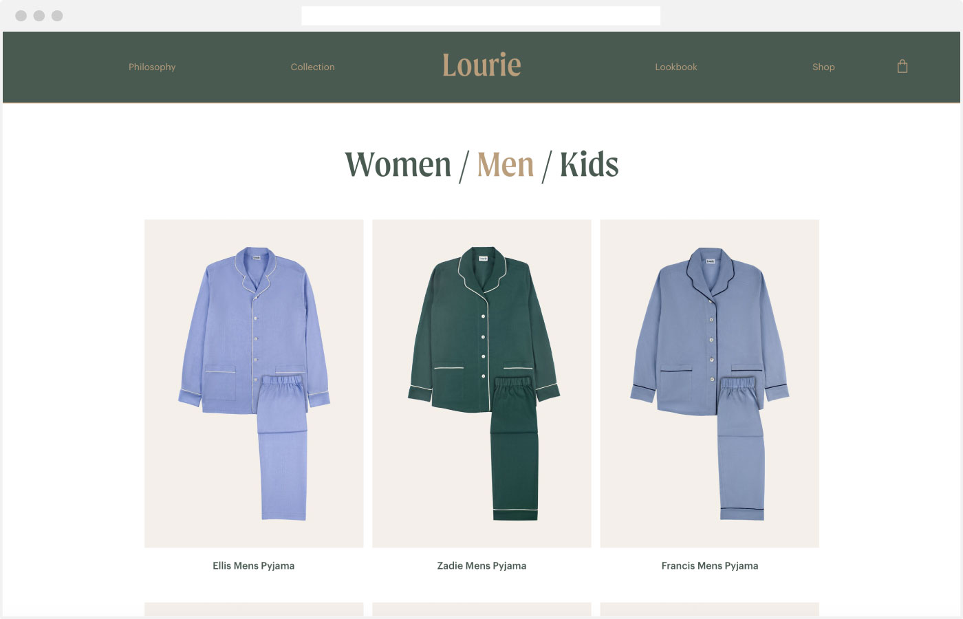 Lourie Webdesign Webshop
