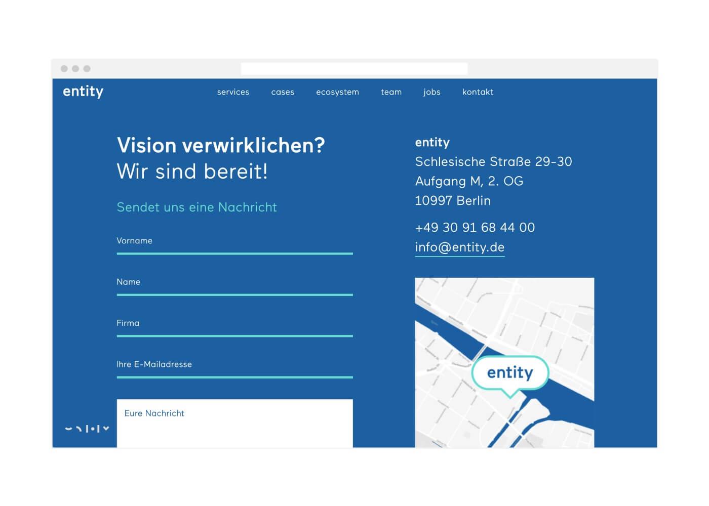 entity Webdesign