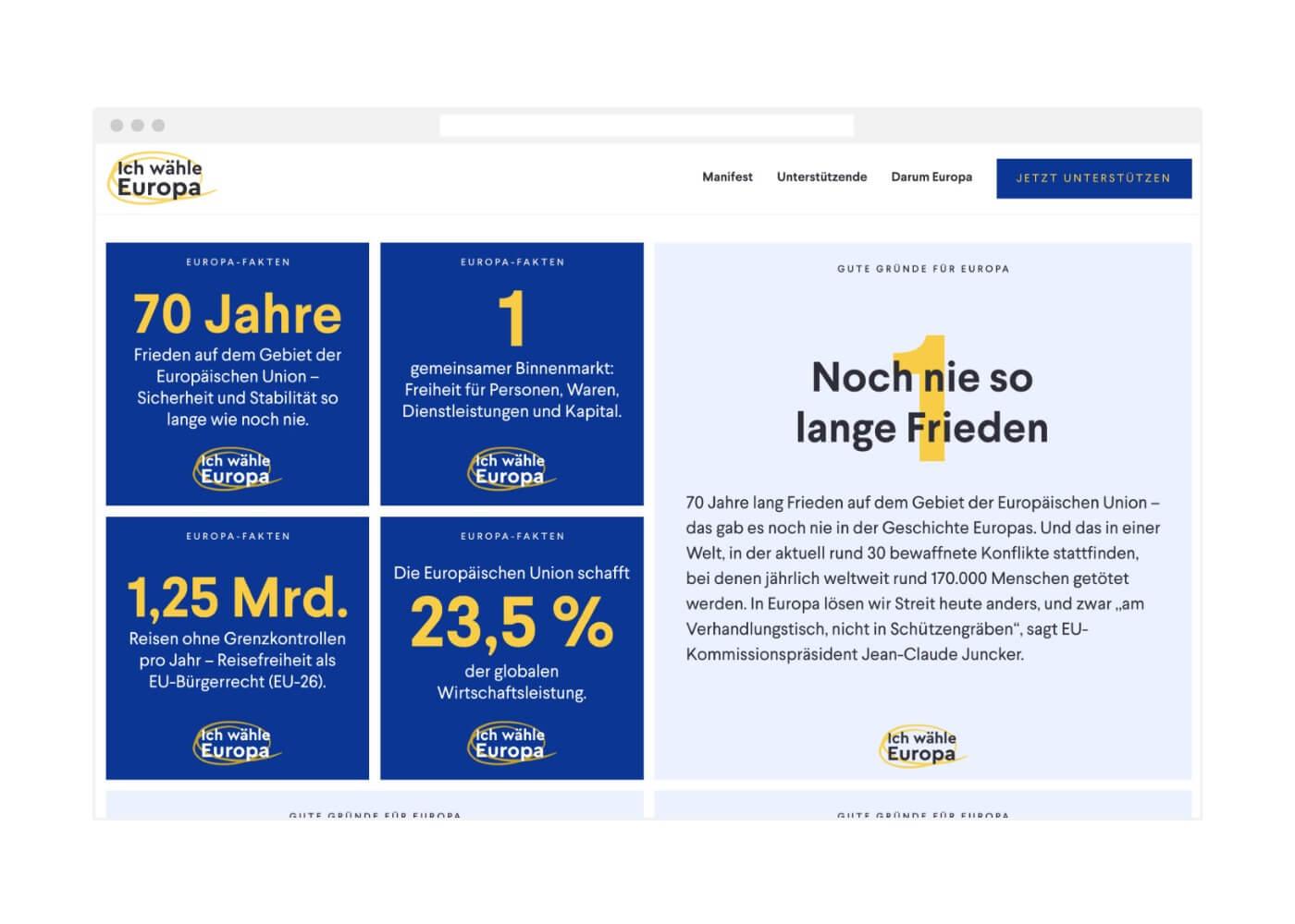 Ich wähle Europa Webdesign