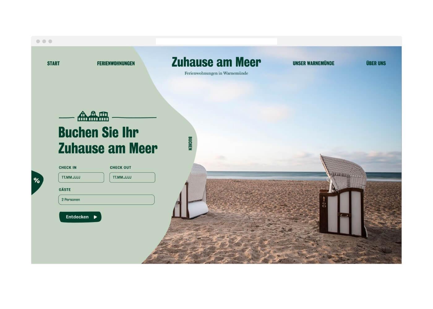 Website Zuhause am Meer Startseite