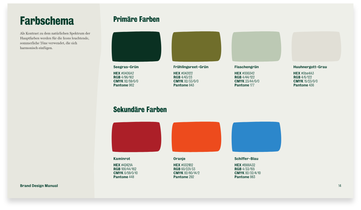 Brand Design Manual Farbe