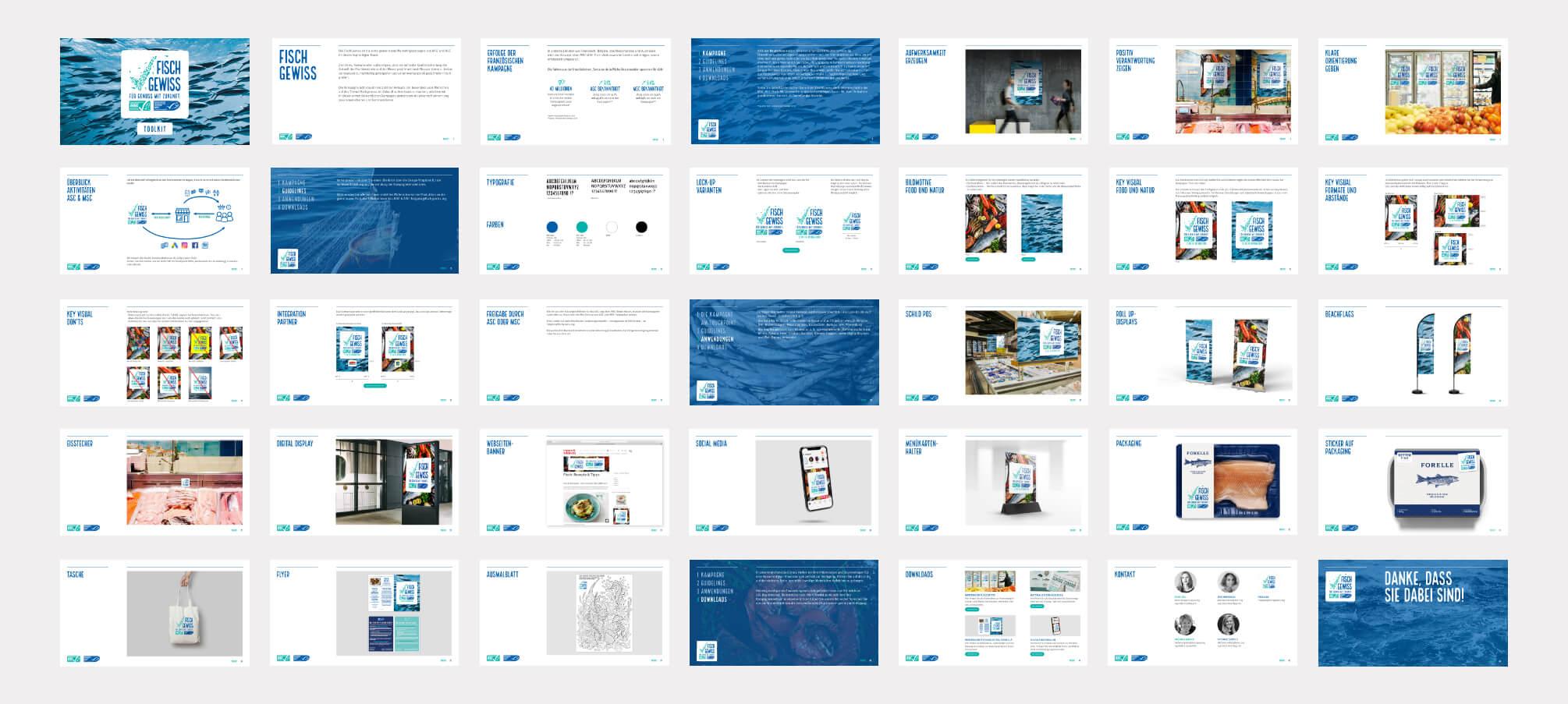 Fisch Gewiss Kampagne Brand Guidelines
