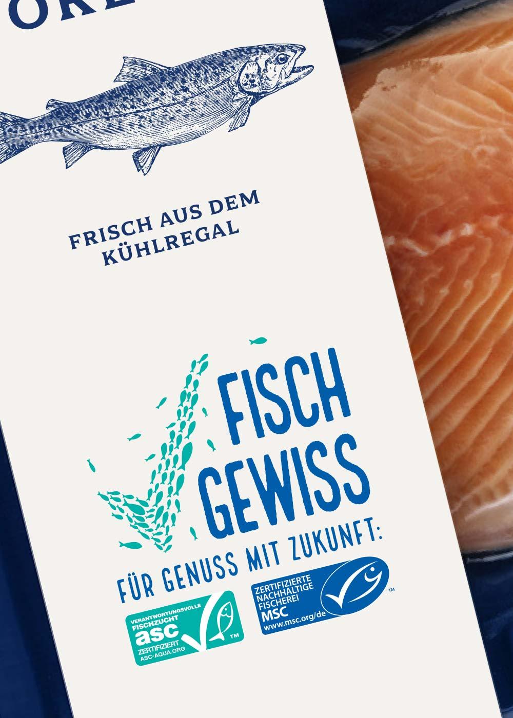 Fisch Gewiss Verpackungsdesign Orientierung