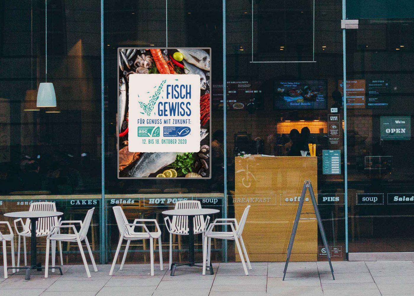 Fisch Gewiss Plakat Restaurant