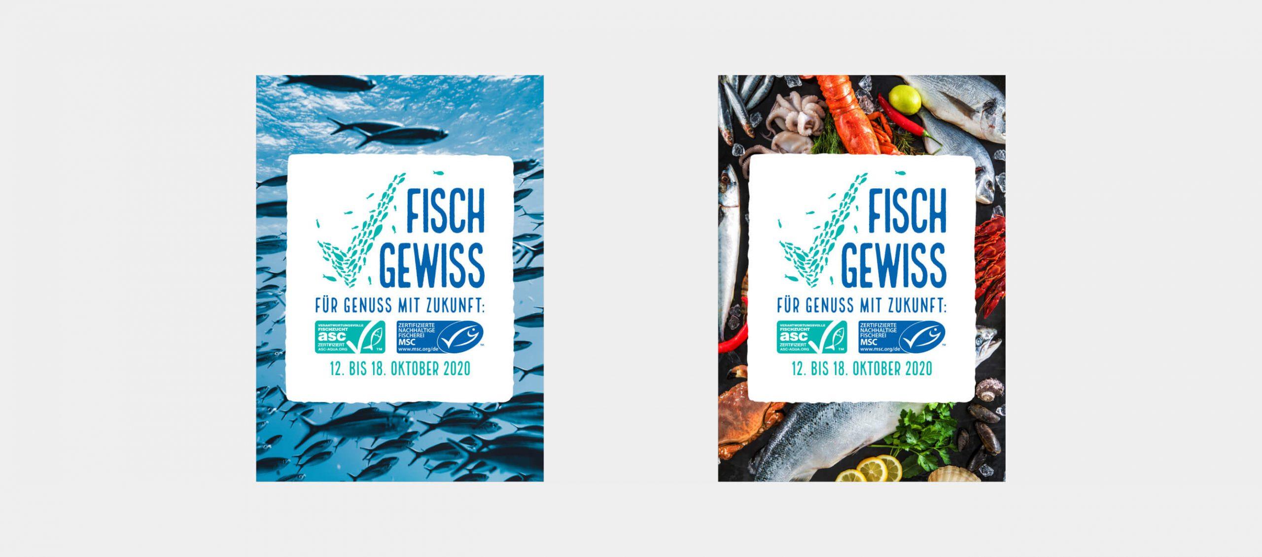 Fisch Gewiss Plakate